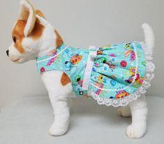 Dog Clothes Buttons and Bugs Dress Chihuahua by codyandcompanypets