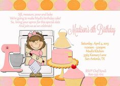 Deb's Party Designs - Baked WIth Love Birthday Invitation, $1.00 (http://www.debspartydesigns.com/baked-with-love-birthday-invitation/)