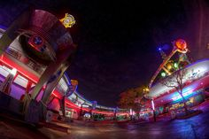 Magic Kingdom: Tomorrowland at night