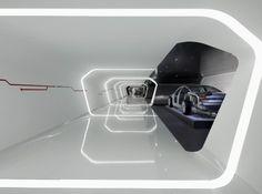 Car display by liliana Futuristic Interior, Futuristic Cars, Futuristic Design, Futuristic Architecture, Architecture Details, Futuristisches Design, Display Design, Booth Design, Interior Design