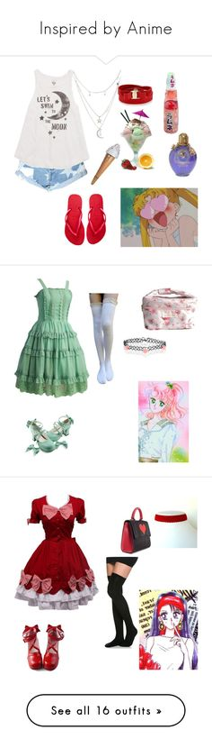 """Inspired by Anime"" by zozo-chan ❤ liked on Polyvore featuring Glamorous, Billabong, Havaianas, Charlotte Russe, Salvatore Ferragamo, MAKOTO, Accessorize, Les Petits Joueurs, Mizuno and Marais USA"