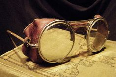 #steampunk #goggles Antique Willson Motorcycle Glasses | Monkey Skull Vintage | Unusual Antiques and Oddities
