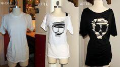 diy tshirt cutouts