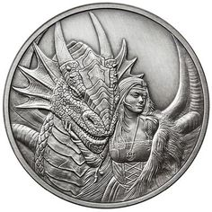We will be offering some of the most spectacular looking silver and copper coins available. All of our coins are limited editions and minted in small batches Silver Coins For Sale, Custom Coins, Anne Stokes, Hobo Nickel, Coin Art, My Fantasy World, Challenge Coins, Coin Collecting, Cool Artwork