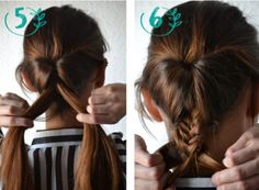 Retro Fishtail Updo Step by Step