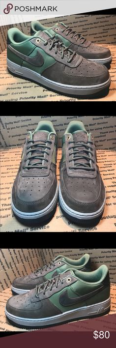 "outlet store a0e38 7b8f8  NIB  Nike Air Force 1  07 Premier W- Sz 8 Y6.5 Nike Air Force 1  07  Premier  RARE COLOR  baroque brown and army olive green ""beef and broccoli""  shoes."