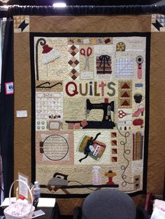 For my sewing room. A Quilter's World by Lori Holt. Got the pattern at Long Beach 1012 Quilt Show.