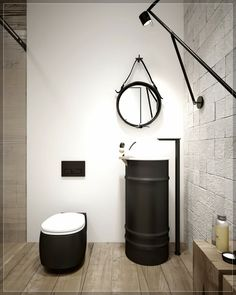 Avant apr s le relooking d co style industriel made in d coration maison - Deco wc chic ...