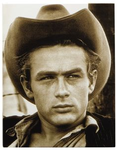 "James Dean stars with Elizabeth Taylor in ""The Giant"""