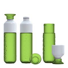 Dopper - Botella de agua reutilizable, color verde