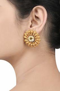 Designer floral earrings
