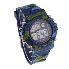 Children Boys Camouflage Swimming Sports Digital Wrist Watch Waterproof
