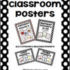 This is a bundled set of my black and white polka dot classroom posters.  This set contains posters in both 8.5x11 and half sizes approximately 5.5...