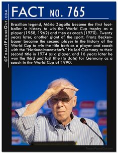 Brazilian legend, Mário Zagallo became the first footballer in history to win…
