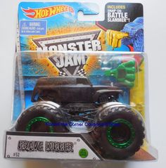2015 Hot Wheels Blackout Grave Digger Monster Jam #52 Black Out Special edition #HotWheels
