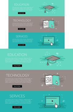 Ed Tech Services banner set. Web Elements. $3.00