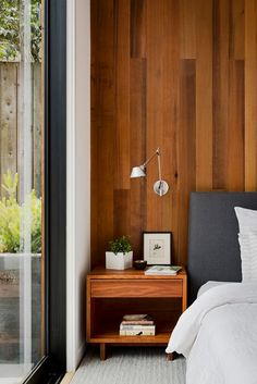 Let there be Light House Extension Design, House Design, Studio Design, Artwork Above Bed, Beadboard Wainscoting, Be Light, San Francisco Houses, Farmhouse Side Table, Cute Dorm Rooms