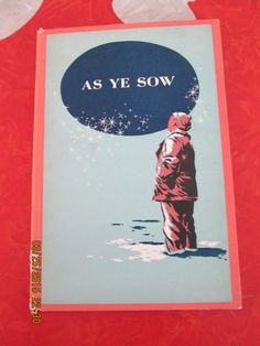 As Ye Sow By Dorothy Canfield, 1956 by VintageVeneers on Etsy