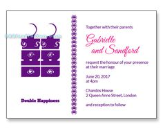 Free invitation temple featuring a double happiness candle. Free Wedding Invitation Templates, Unique Wedding Invitations, Personalized Wedding, Wedding Cards, Temple, How To Memorize Things, Candle, Reception, Marriage