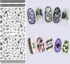 New Design Water Transfer Nails Art Sticker Gray Leaves Elements Nail Wraps Sticker Tips Manicura nail supplies Decal Fashion #Affiliate