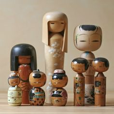 Kokeshi Dolls Collection vintage