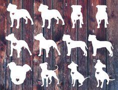Pitbull decal pitbull sticker Love a bull car decal by SLrustic
