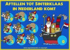Sinterklaas aftelkalenders en schoenkalenders gratis