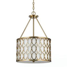 Candice Olson Cosmo Satin Brass Three Light Pendant Af Lighting Drum Pendant Lighting Ceil