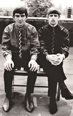 GEORGE AND RINGO WERE VERY CLOSE AND PAUL AND JOHN WERE CLOSE.