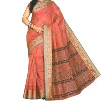 Flat 15% off on Printed Cotton Saree - Traditional Cotton Sari with Ethnic Borders. Buy now @ orangecheese.com. Free shipping in India. COD available. We deliver worldwide.