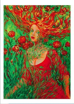 Eine Reproduktion meines Acryl-Gemäldes - Alice im Sommerland -    Limitierte Auflage: 100 Exemplare.  Hinten nummeriert, signiert und datiert.    ...