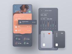 finance app Track Family Transactions - Finance App Design by _mazursky Dashboard Design, Ui Ux Design, Game Design, Application Ui Design, Layout Design, Application Mobile, User Interface Design, Logo Design, Interface App