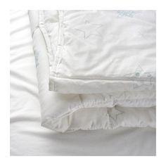 LEN STJÄRNA Dekbed voor babybed, wit, blauw wit/blauw 110x125 cm