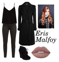 """Eris Malfoy"" by hunterfromnarnia ❤ liked on Polyvore featuring Levi's, Raey, Bottega Veneta, Jessica Simpson and Lime Crime"