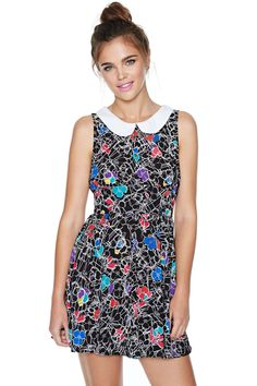 Nasty Gal Maze Out Dress | Shop Bright and Graphic at Nasty Gal