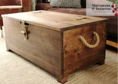 Home Projects, Projects To Try, Kids Bedroom Designs, Wood Chest, Wood Boxes, Storage Chest, Diy And Crafts, Trunks, Rustic