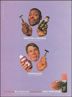 New Edge Pro Gel Shaving Cream Ad.