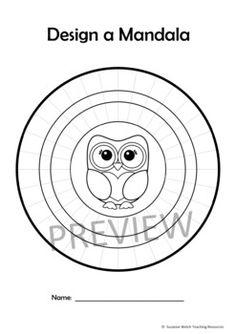Mandala Templates – Design a mandala pattern – OWL theme Crown Template, Heart Template, Flower Template, Owl Templates, Applique Templates, Applique Patterns, Paper Butterflies, Butterfly Cards, Dot Art Painting