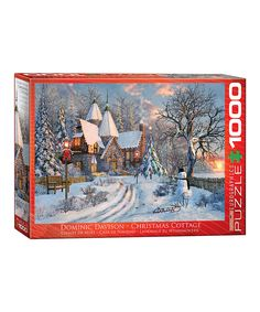 Love this Christmas Cottage by Dominic Davison Puzzle by Eurographics on #zulily! #zulilyfinds
