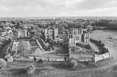 Kenilworth Castle by drone . Aerial Photography, Landscape Photography, Kenilworth Castle, Aerial Drone, Aerial Silks, Castle Ruins, Drones, Black And White Photography, Mount Rushmore
