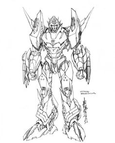 Free Printable Transformers Coloring Pages For Kids 채색