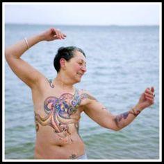 40 Awe-inspiring Breast Cancer Scar Tattoos - BleuVous.com