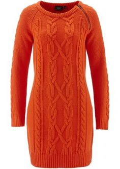 Strickkleid, bpc bonprix collection, mattorange