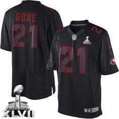 bc27f837deb ... Jersey Mens Nike San Francisco 49ers 21 Frank Gore Elite Black Impact  Super Bowl XLVII NFL ...