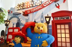 Main backdrop paddington bear and kenzo