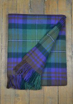Luxury Lambswool Blanket in Isle of Skye Tartan  | The Tartan Blanket Co.