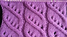 Pletenje - 3. Ažur bod | Knitting tutorial - Easy Diagonal Openwork Stitch