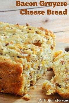 Bacon Gruyere Cheese Bread is one of our favorite homemade breads. Any recipe that combines bacon and cheese is sure to be a winner at our house!