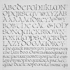 Julien Priez — Uncial research Calligraphy by Julien Priez Hand Lettering Fonts, Cool Lettering, Lettering Styles, Lettering Tutorial, Lettering Design, How To Write Calligraphy, Calligraphy Handwriting, Calligraphy Letters, Penmanship