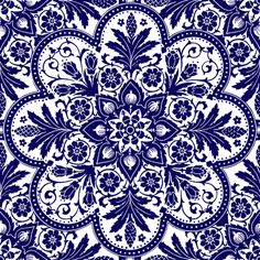 A textile based on a tile. Peacoquette designs